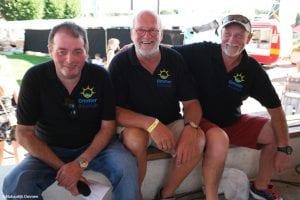 Organisatie palingrookwedstrijd: Ronald Bakker, René Kuipers en Henk Gerrits.